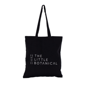 Little Botanical black tote bag